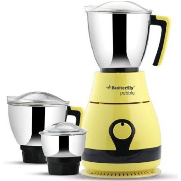 Butterfly Pebble 600Watt Mixer Grinder with 3 Jars