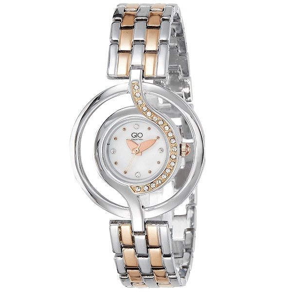 Gio Collection Analog White Dial Womens Watch