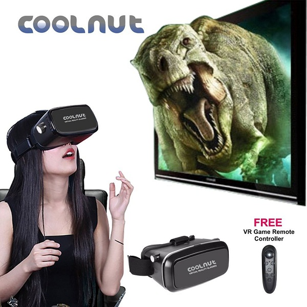 COOLNUT VR Glasses 3D Video Headset with Best Bluetooth Gaming Remote