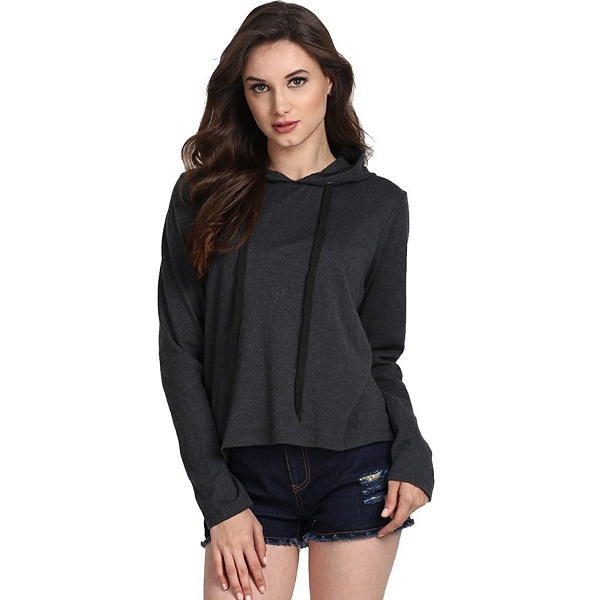 Fanideaz Womens Cotton Full Sleeve Trendy Hooded T Shirt