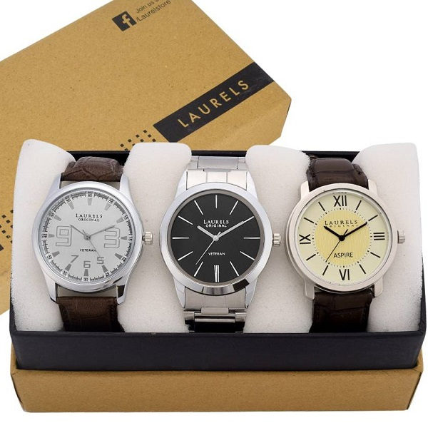 Laurels Mens Analog Watch Combo