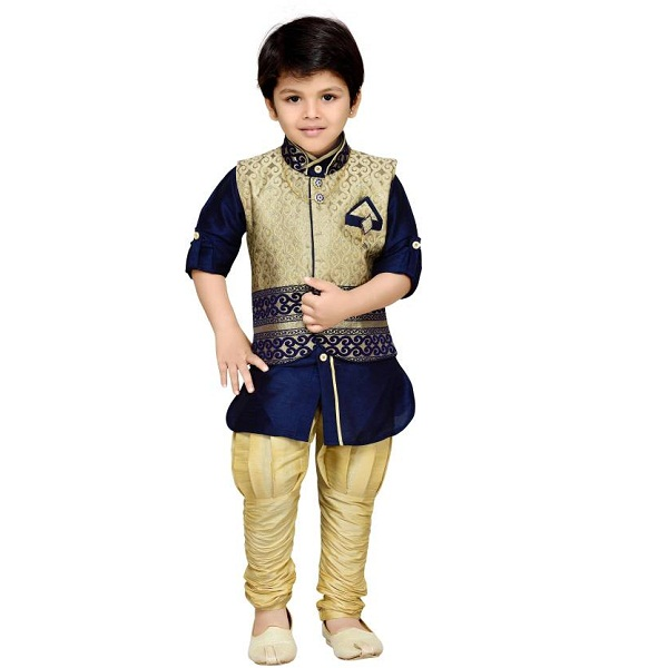 AJ Dezines Boys Full Sleeve Ethnic Set
