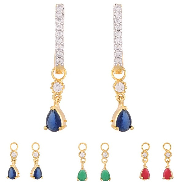Zeneme 6 in 1 Interchangeable Jhumki Shaped Earrings