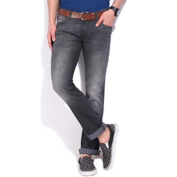 Wrangler Regular Mens Grey Jeans
