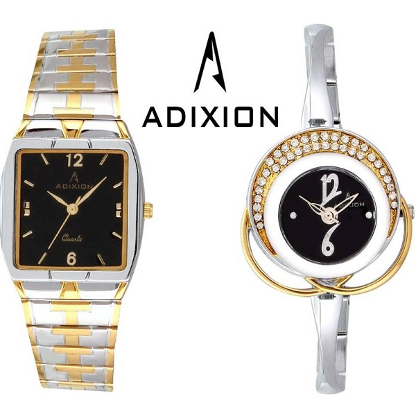 ADIXION Analog Watch COMBO For Couple