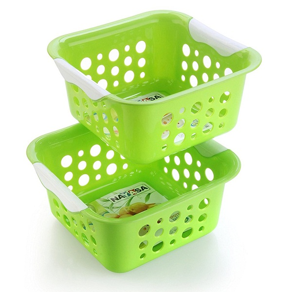 Nayasa 2Piece Plastic Fruit Basket Set