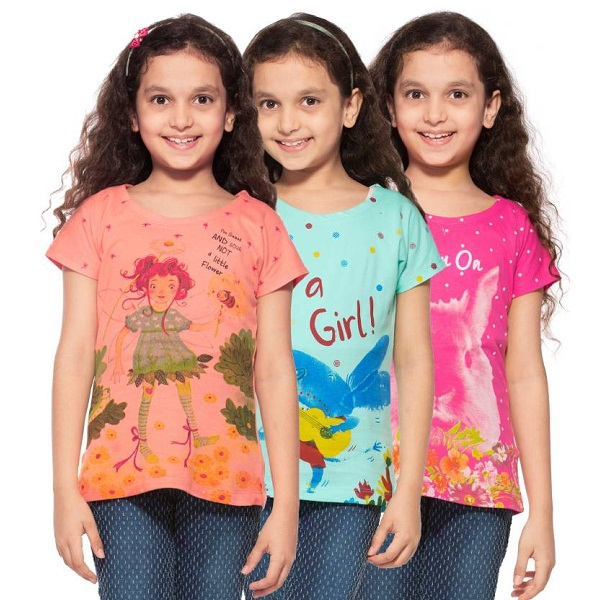 Stay Little Pack of 3 Tshirt For Girls