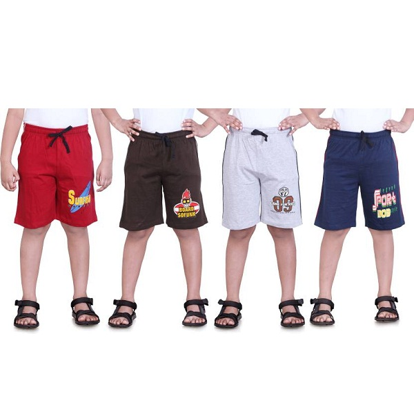 Dongli Short For Boys Pack of 4