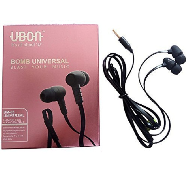 Ubon UNIVERSAL Audio Bass In Ear Earphone with Mic