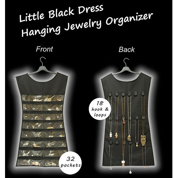 Ez Life Little Black Dress Accessories Organiser