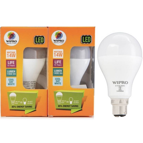 Wipro Pack of 2 14W B22 LED Bulb