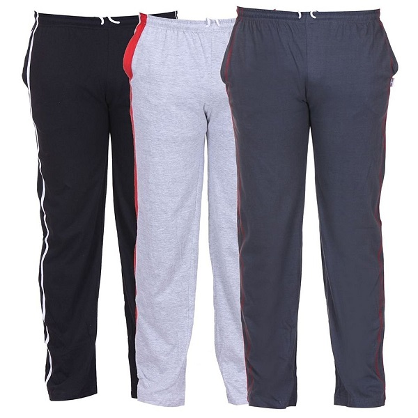 TeesTadka Mens Cotton Track Pants Pack of 3