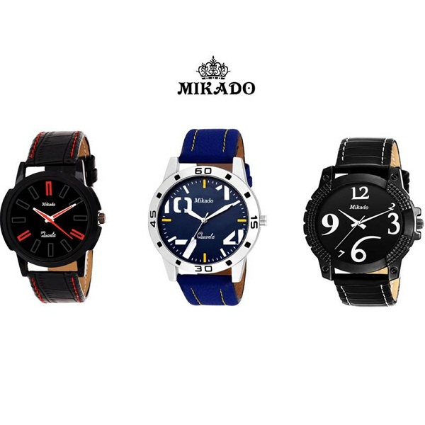 Mikado Analog Watch Pack Of 3