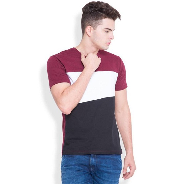 Highlander Solid Mens Round Neck Multicolor T Shirt