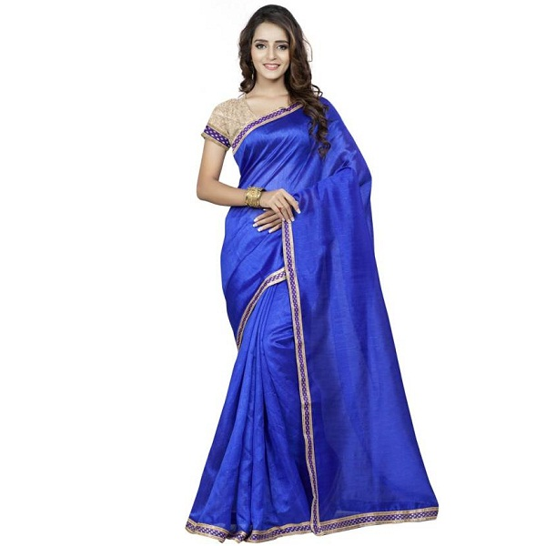 Saara Solid Fashion Silk Sari