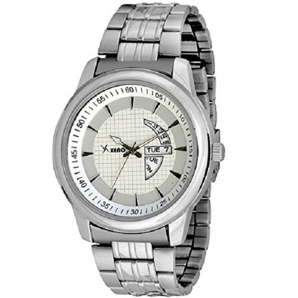 Xeno Analog White Dial Mens Watch