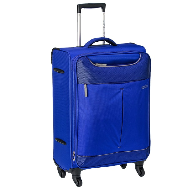 American Tourister Sky Polyester 68Cms Blue Soft Sided Suitcase