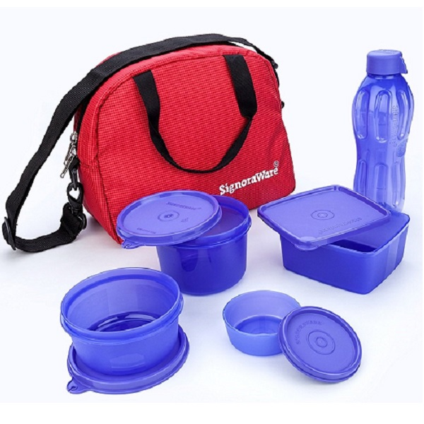 Signoraware Sling Plastic Lunch Box Set