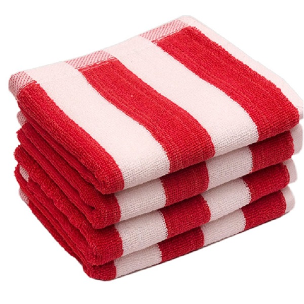 Skumars Love Touch Cabana Stripe Cotton Hand Towel Set of 4