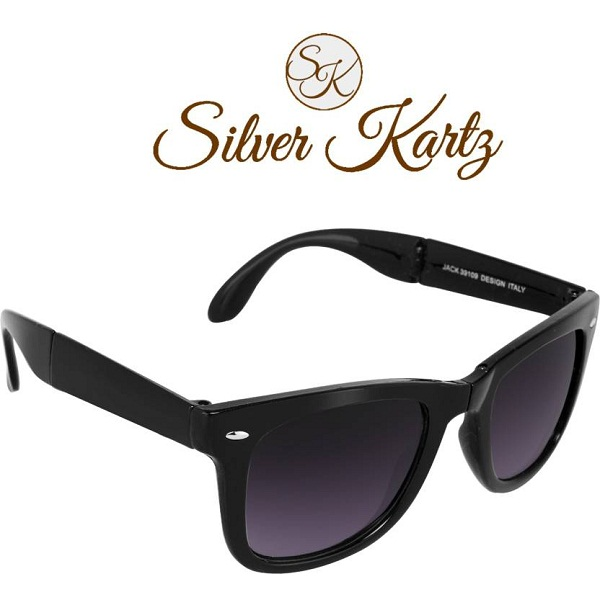 Silver Kartz Folding Delight Wayfarer Sunglasses
