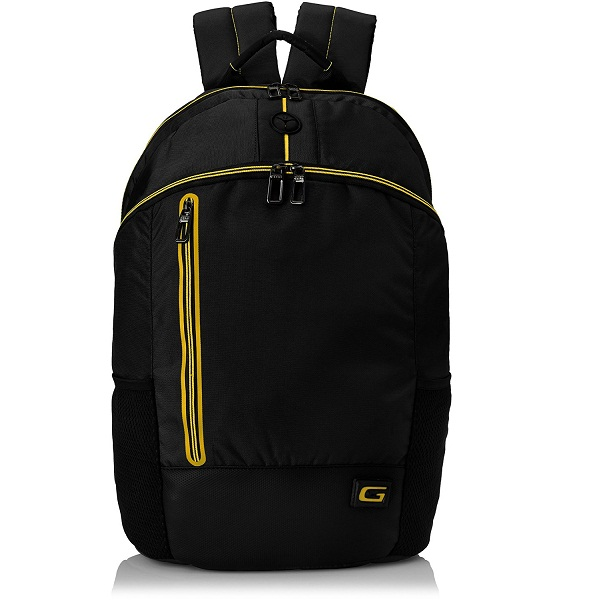 Gear 18 ltr Black and Yellow Casual Backpack