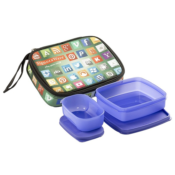 Signoraware Network Twin Smart Lunch Box Set