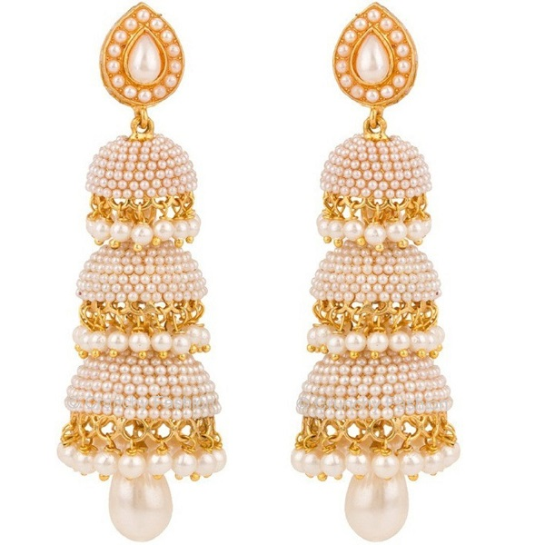 Royal Bling Gold Plated Jhumki Earrings