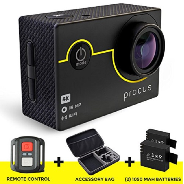 Procus Rush 4K WIFI Sports Action Camera Ultra HD Waterproof DV Camcorder