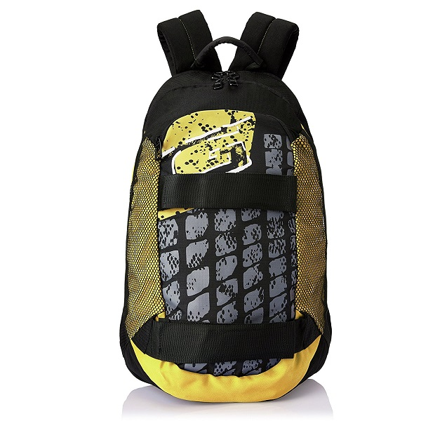 Gear 28 ltr Black and Yellow Casual Backpack