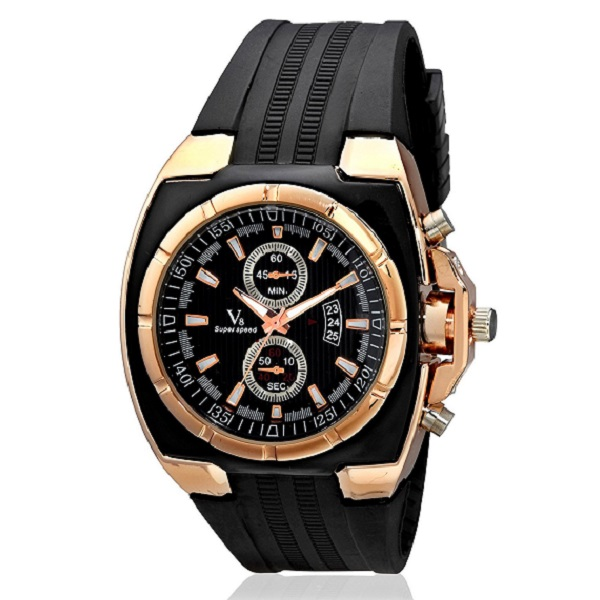 V8 Super Speed Big Bang Classic Golden Mens Analog Watch