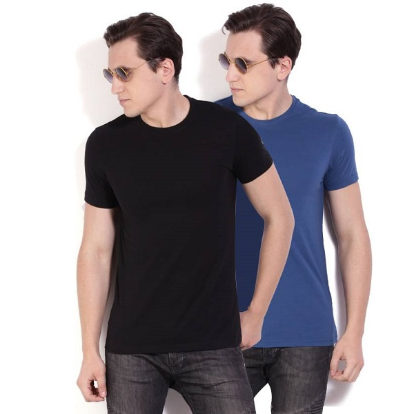 Peter England Mens TShirt Pack of 2
