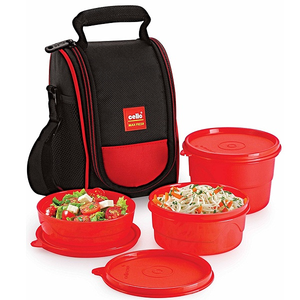 Cello Max Fresh Super Polypropylene Lunch Box Set 3Pcs