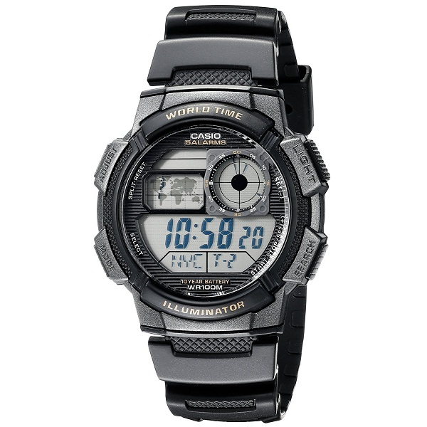 Casio Youth Digital Grey Dial Mens Watch