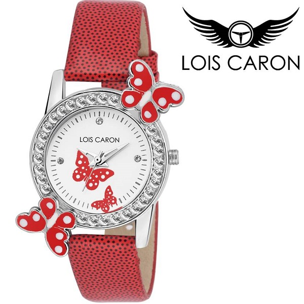 Lois Caron CRYSTAL STUDDED Analog Watch