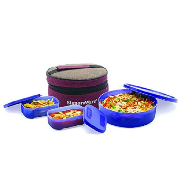 Signoraware Classic Lunch Box Set with Bag