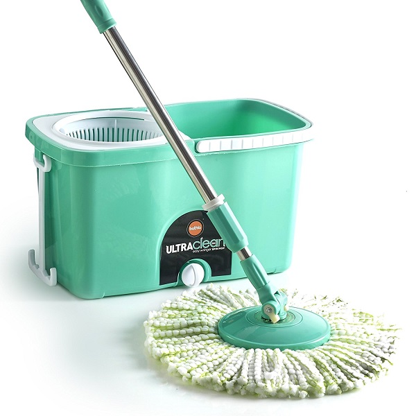 Bathla Ultra Clean Easy Spin Mop with Refill and Dispenser