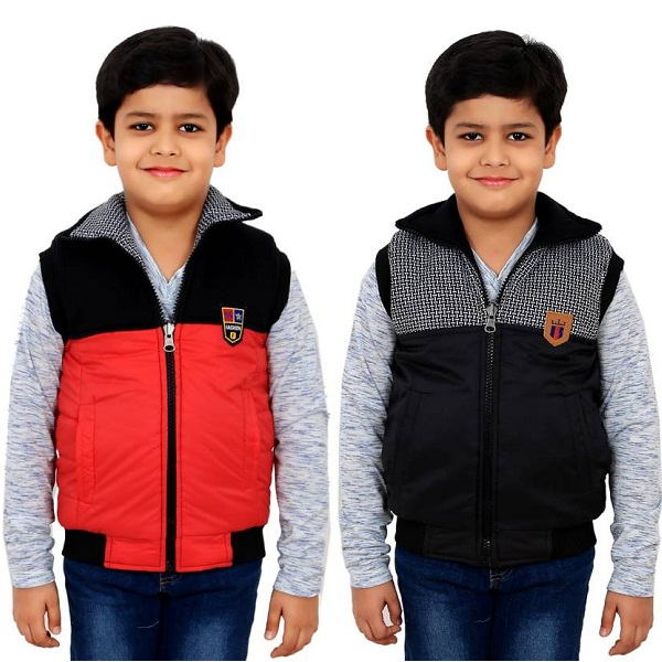 Sunday Casual Sleeveless Solid Boys Jacket