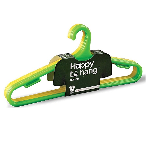 Happy To Hang Teeser Polypropylene Hanger Set Of 6