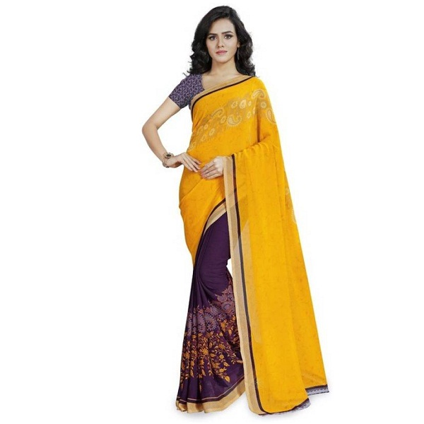Anand Sarees Printed Daily Wear Georgette Sari