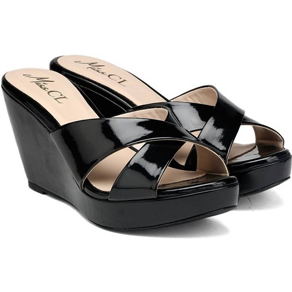 Carlton London Miss CL Women BLACK Wedges