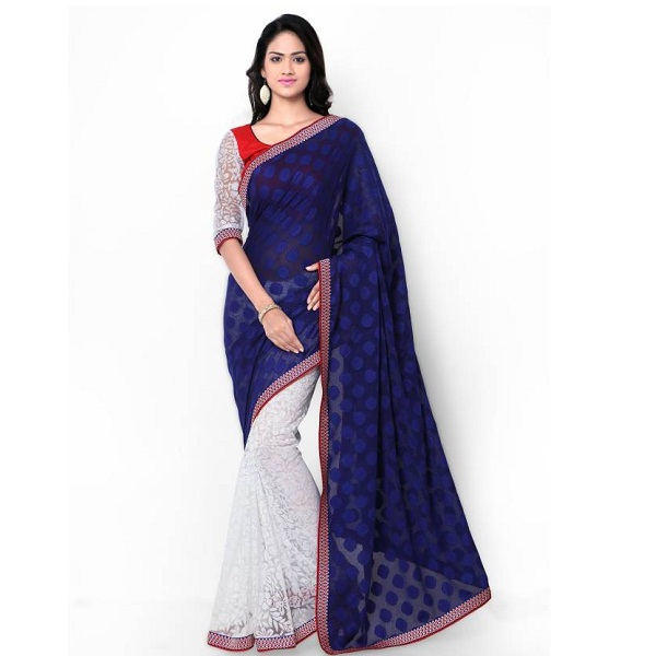 Kvsfab Self Design Bollywood Brasso Sari