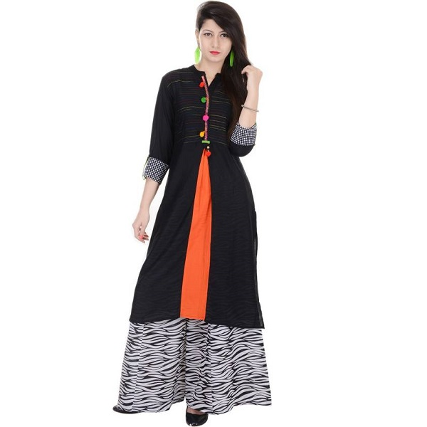 Heritage Jaipur Womens Kurta and Palazzo Set