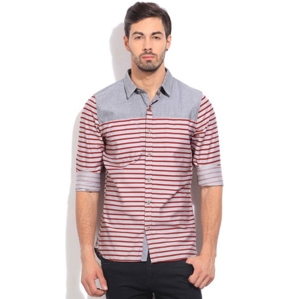 WROGN Mens Striped Casual Shirt