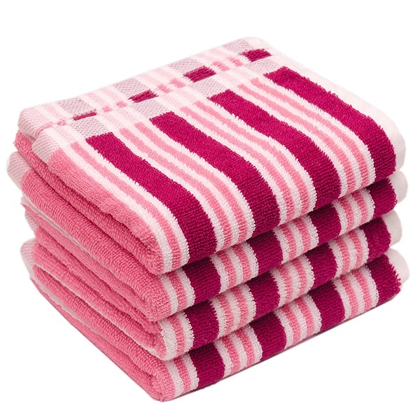 Skumars Love Touch Multi Stripe Hand Towel Set of 4