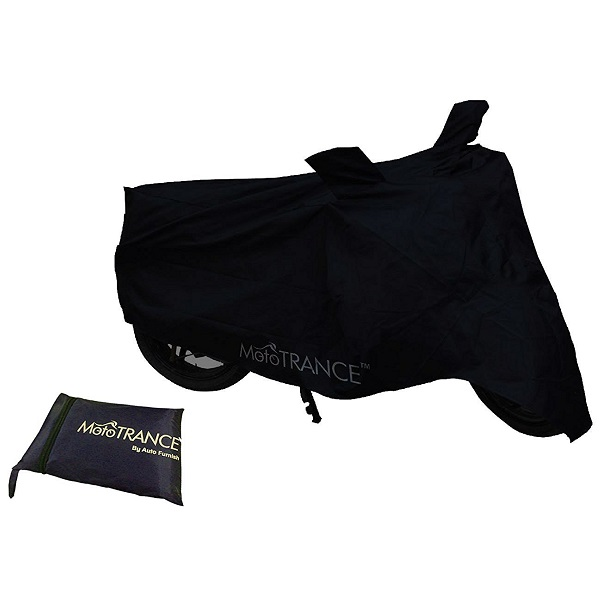 Mototrance Black Bike Body Cover For TVS Apache