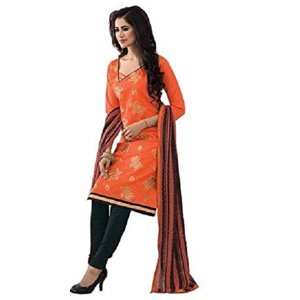 Vibes Women Cotton Salwar Suit Dress Material