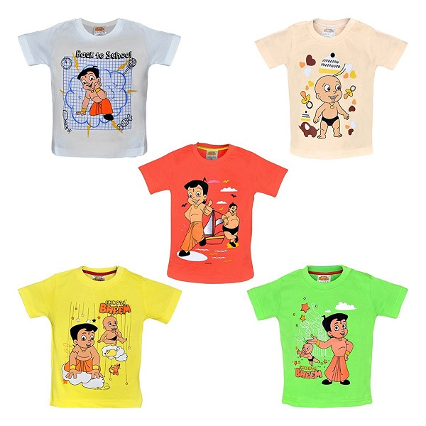 Chhota Bheem T Shirt for Baby Boys Pack of 5
