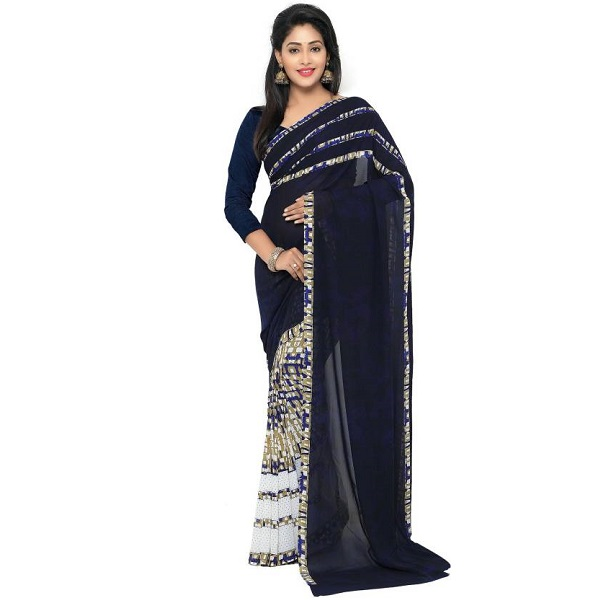 Nilesh Fab Printed Bollywood Georgette Sari