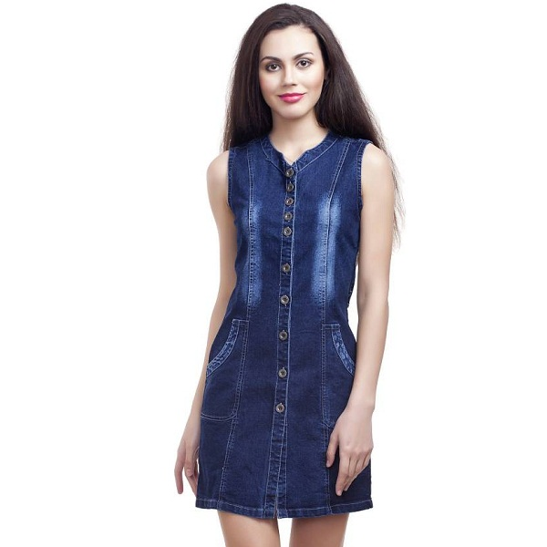 Clo Clu Womens A line Blue Dress