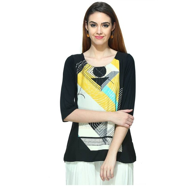 W Casual Womens Multicolor Top